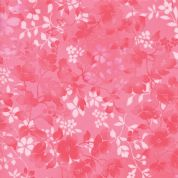 Moda - Sakura Park - 7193 - Dark Pink Watercolour Blossoms - 33484-17 - Cotton Fabric